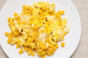 Choclo con huevo rebozado