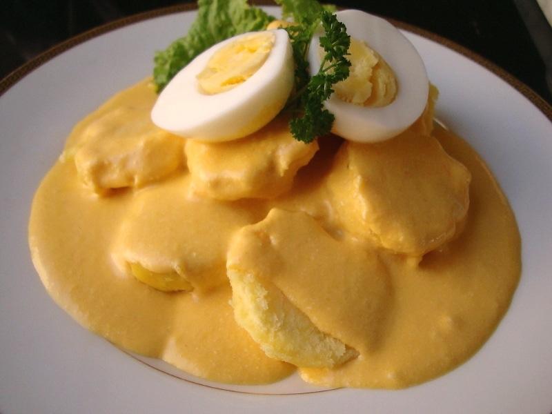 Papa a la huancayna receta peruana